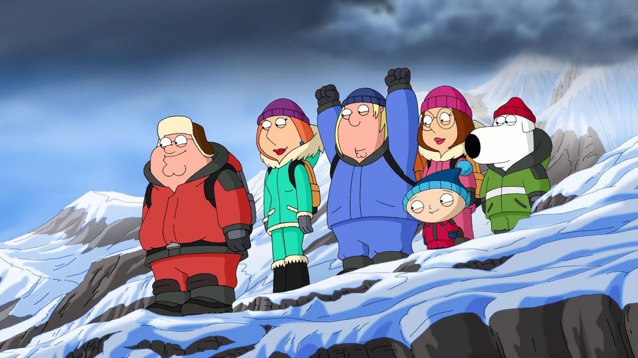 Family Guy Winter humor wallpaper