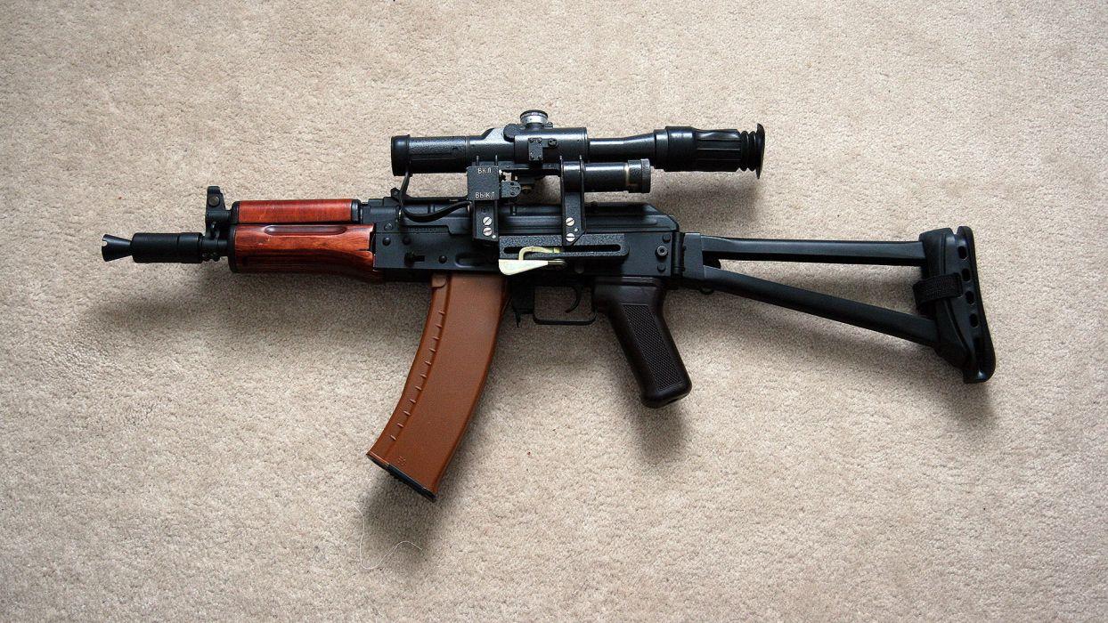 aks 74u assault rifle weapons guns military wallpaper