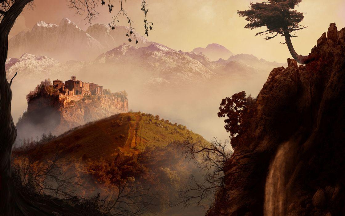 nature landscapes cities castle mountains buildings wallpaper