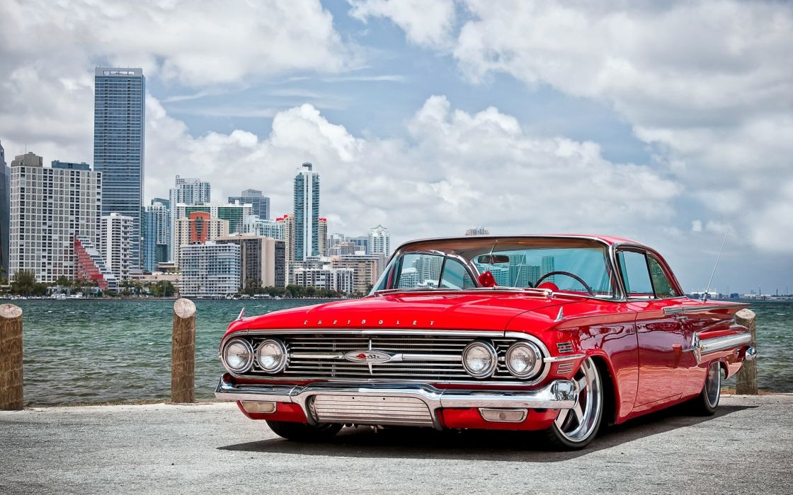 Chevrolet 1960 chevyred tuning low retro hot rod wallpaper