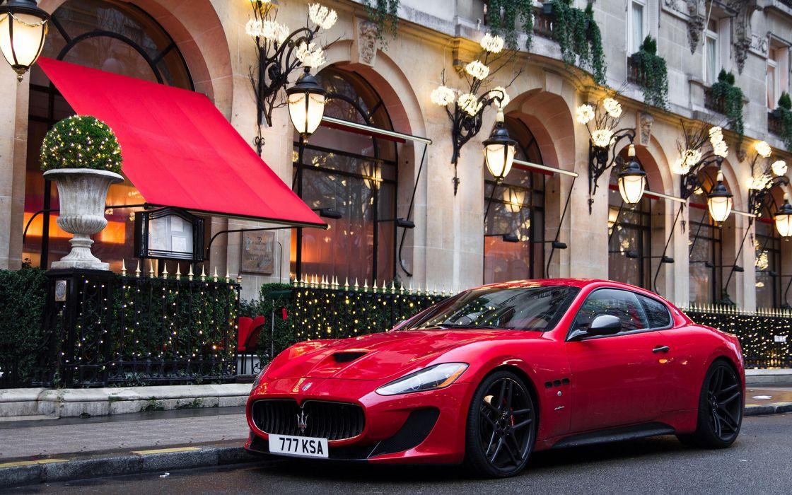 Maserati sports cars red exotic wallpaper