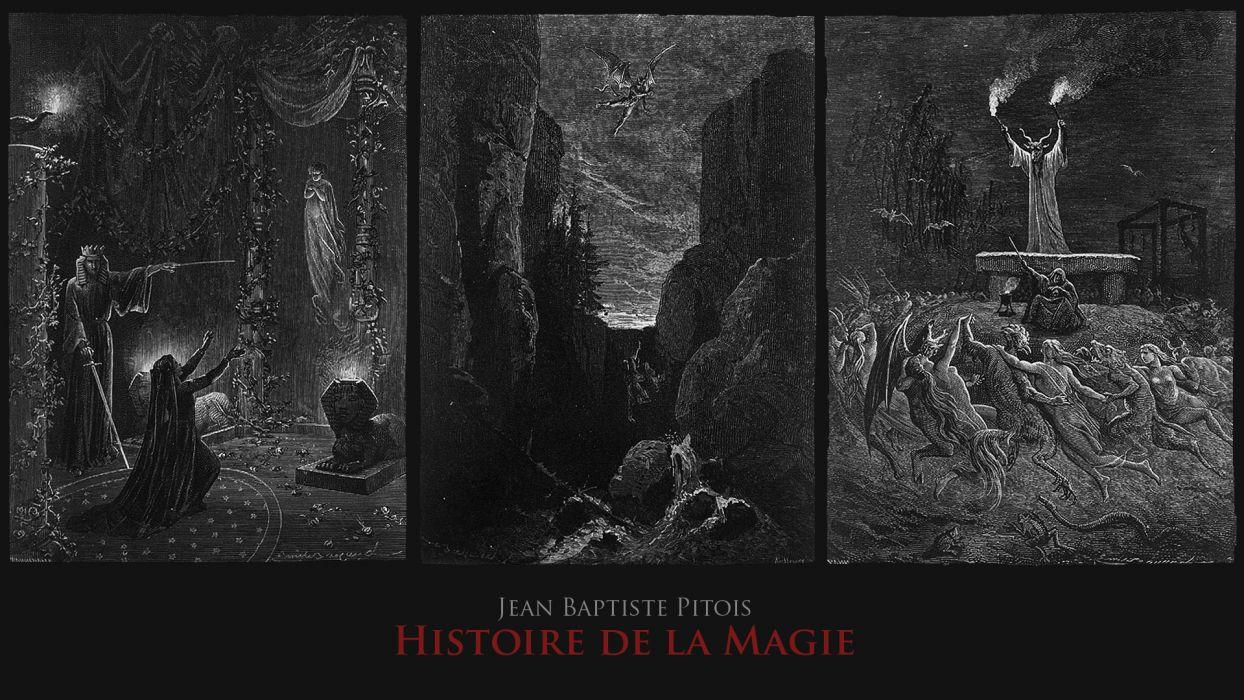 dark horror fantasy evil satan demon art occult skull wallpaper