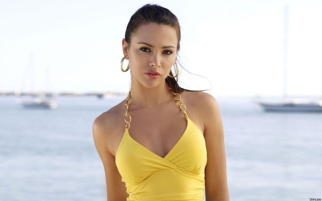 Alina Vacariu women model fashion supermodel brunettes sexy babes wallpaper