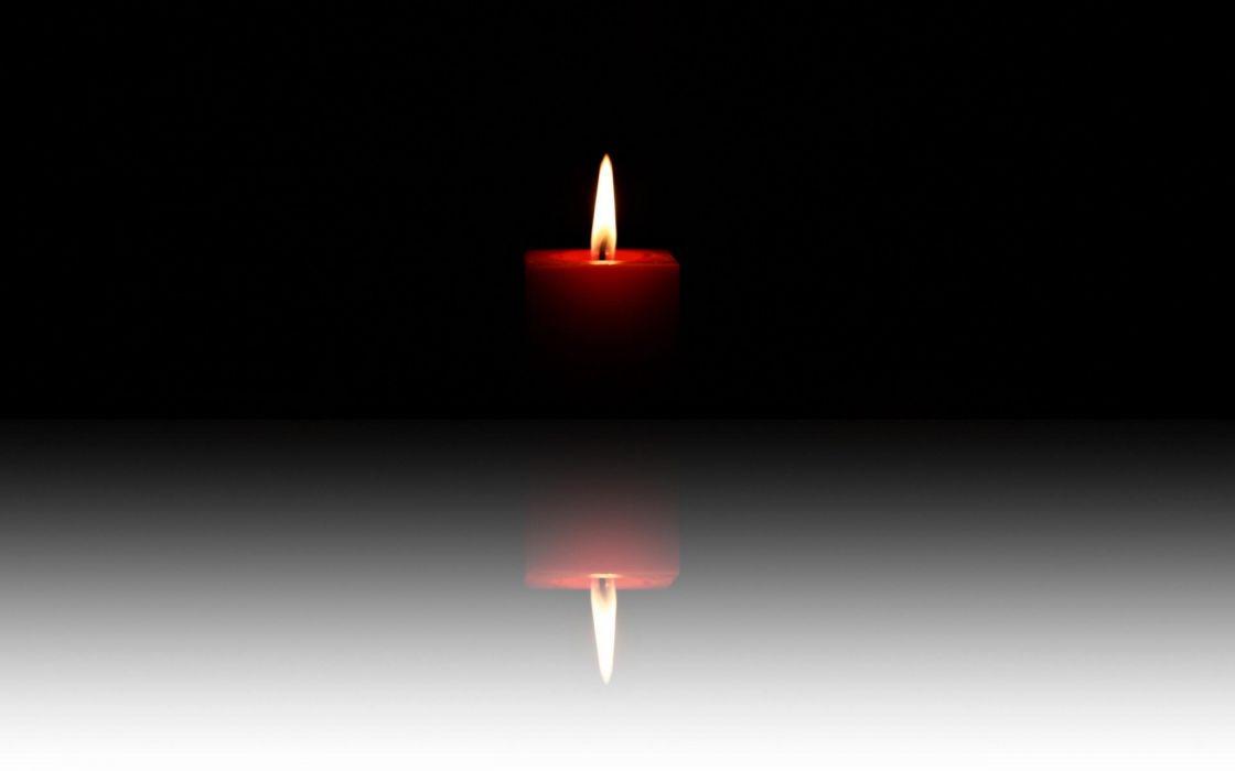 candles fire flame reflection bokeh zen wallpaper