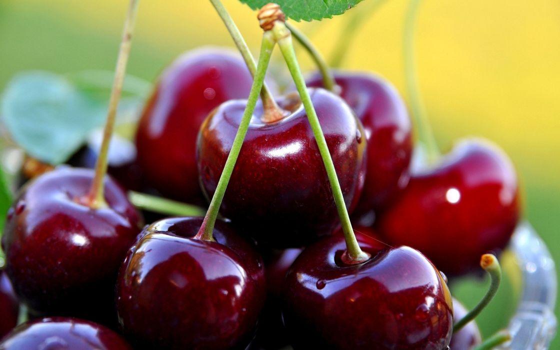 food cherries cherry cloe up macro berries wallpaper