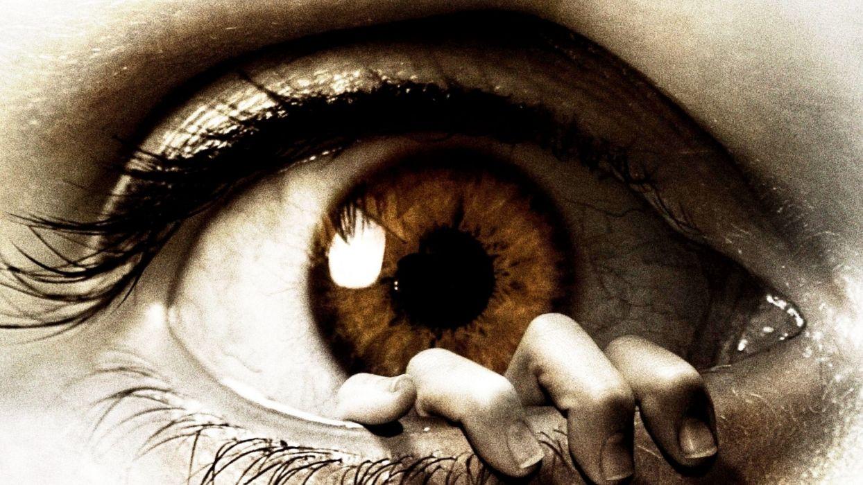 cg digital art manip eye dark horror hand mood evil wallpaper