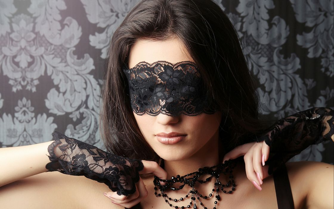 women model style gothic brunette face lace sexy babes mood wallpaper