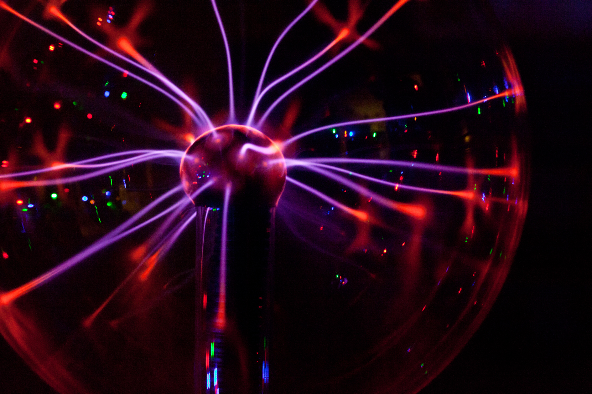 Plasma Ball electricity psychedelic light color wallpaper ...