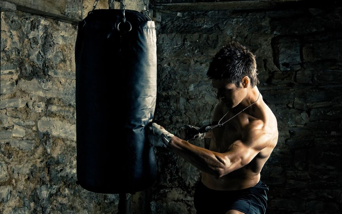 boxer punching bag 1920x1200 wallpaper Sports Boxing wallpaper