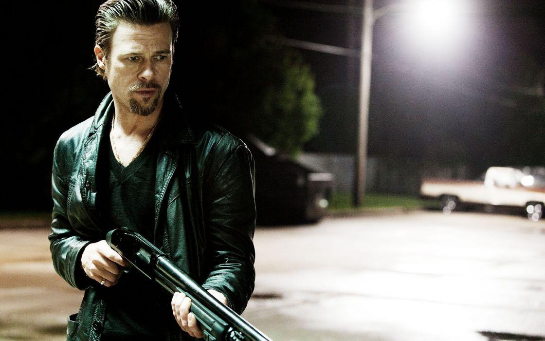 Killing Them Softly brad pitt actors men weapons guns shotgun wallpaper