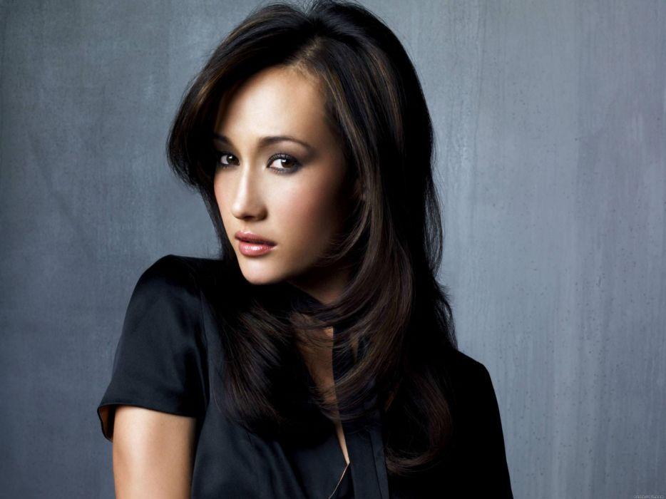 Maggie Q women model brunette asian oriental sexy babes face actress wallpaper