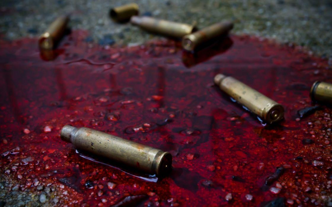 dark horror macabre blood ammo ammuntion bullet wallpaper