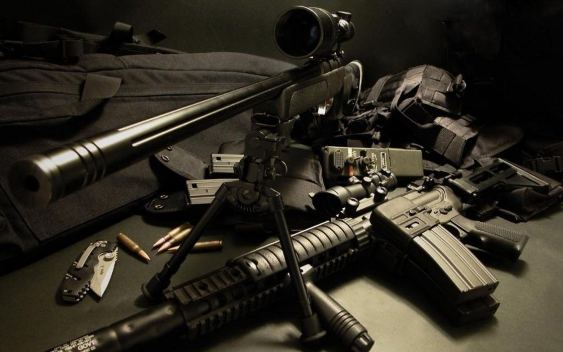 Assault Rifle military weapons guns wallpaper