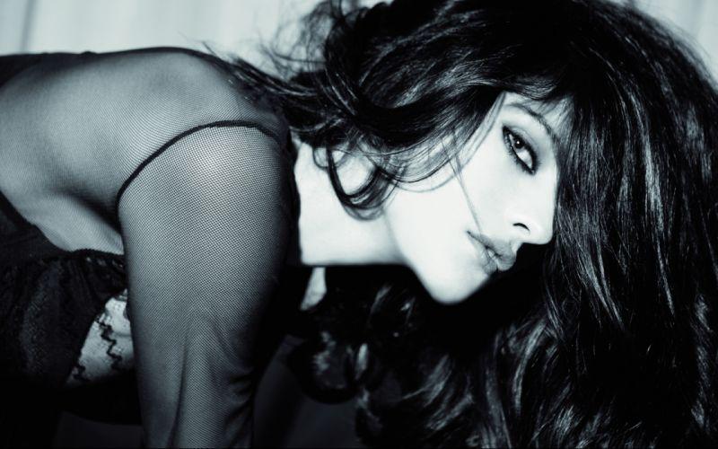 Katarina Ivanovska women model fashion sexy babes gothic brunette face wallpaper