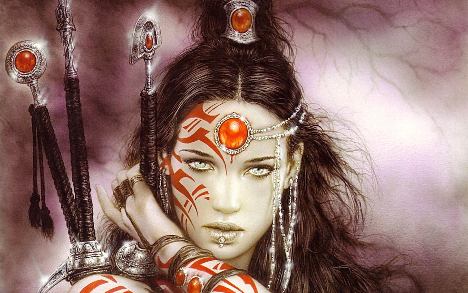 women warrior Luis royo fantasy art