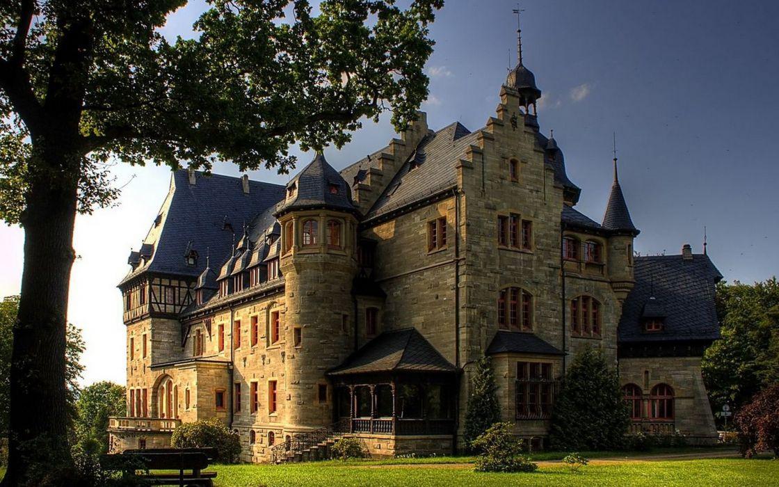 castle buildings wallpaper