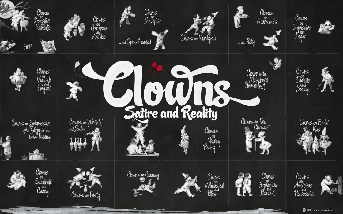humor clowns typography wallpaper