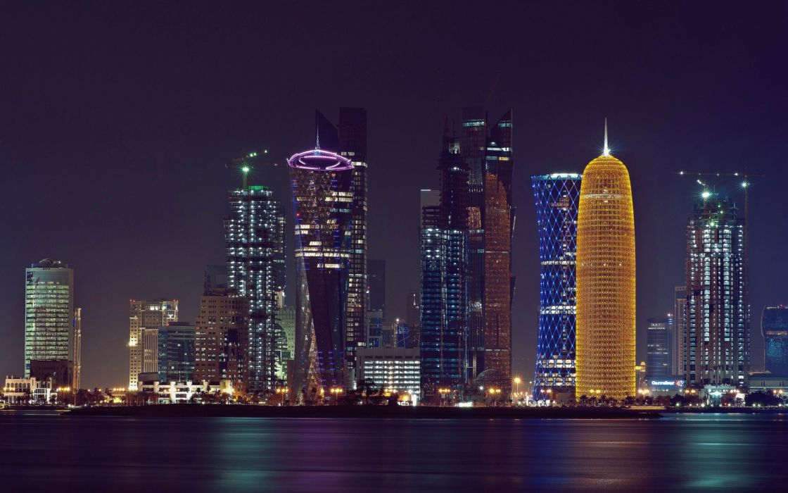 Doha Persian Gulf Qatar buildings skyscrapers wallpaper