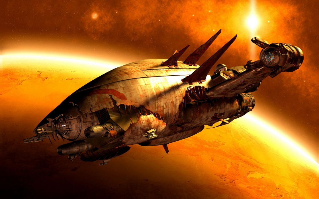 Firefly Serenity Spaceship Reaver movie sci fi space planets spacecraft stars wallpaper