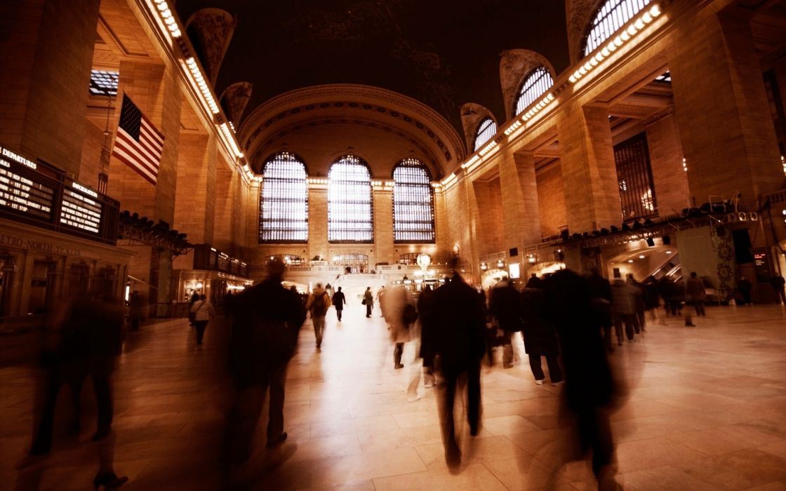 new york city train stations grand central terminal 1920x1200 wallpaper Vehicles Trains HD buildings people wallpaper