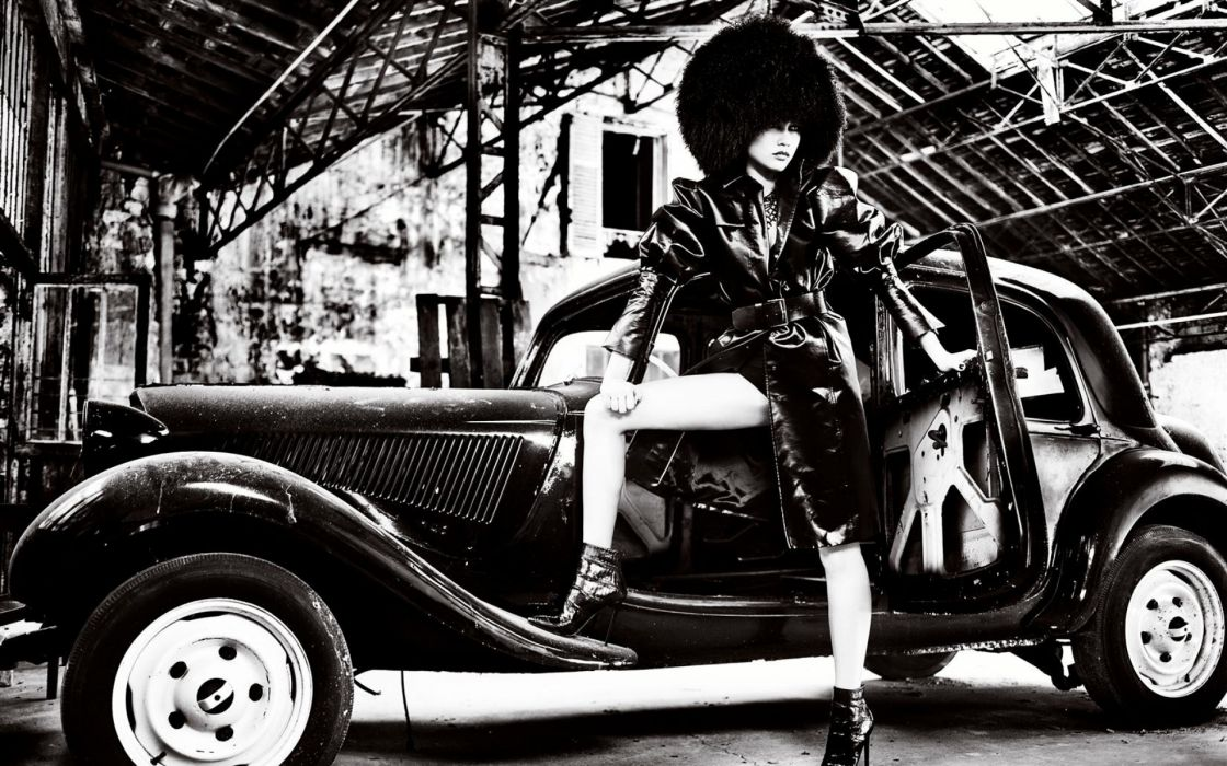olga kurylenko 1920x1200 brunettes women black and white cars actress russia olga kurylenko high heels monochrome leather model fashion wallpaper
