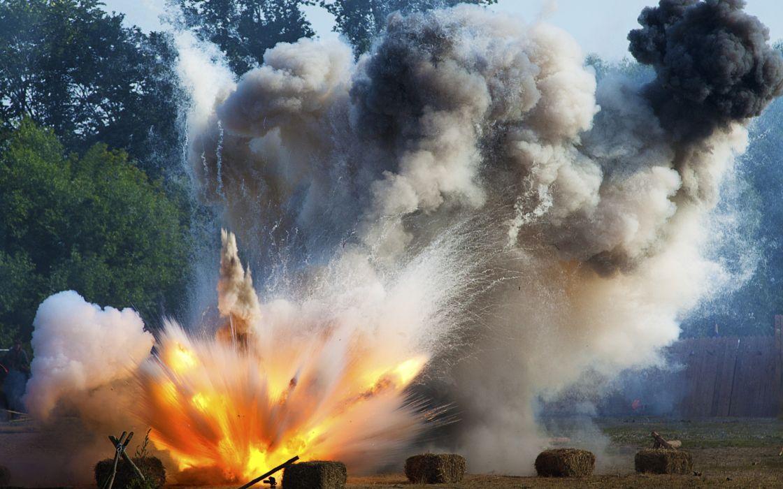 explosion fire smoke military wallpaper
