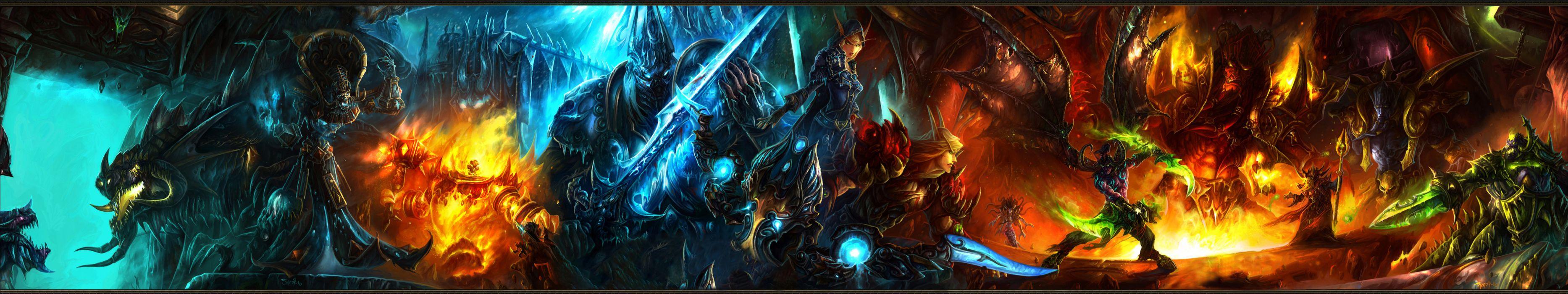 warhammer Monitor Dual Screen fantasy warriors battles weapons sword wallpaper