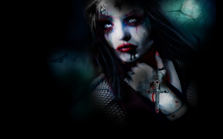 gothic vampire bloody girl - photo #15