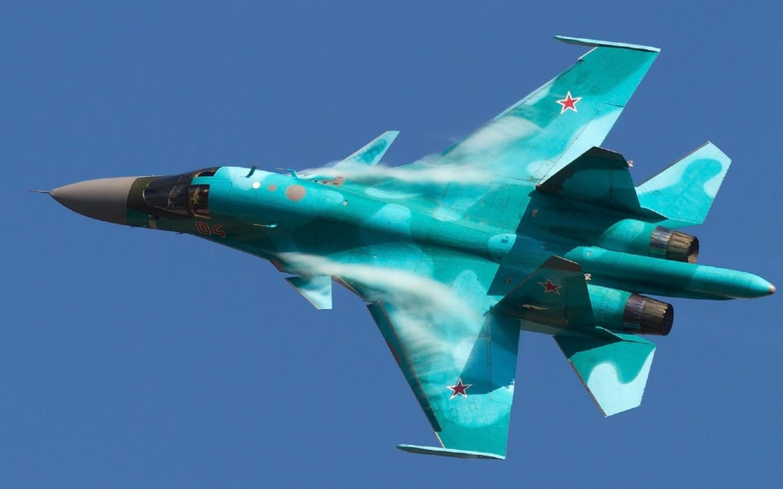 Su-34 bomber military air force fighter jets weapon russia wallpaper