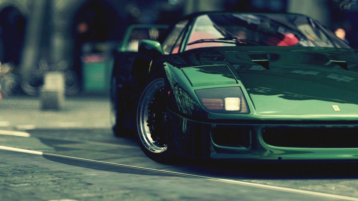 Green Ferrari F40 Wallpaper 1920x1080 30844 Wallpaperup