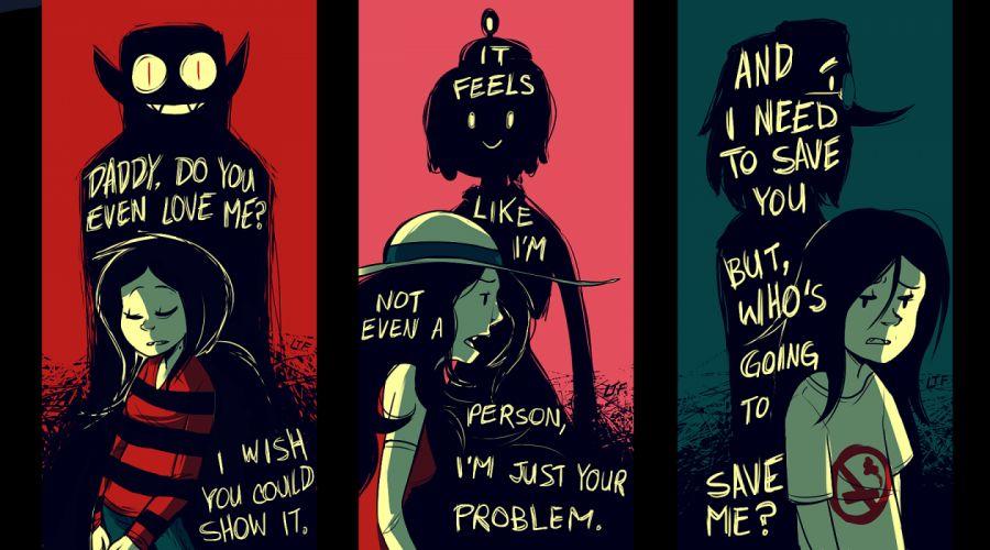 Adventure Time text mood sad sorrow girl wallpaper
