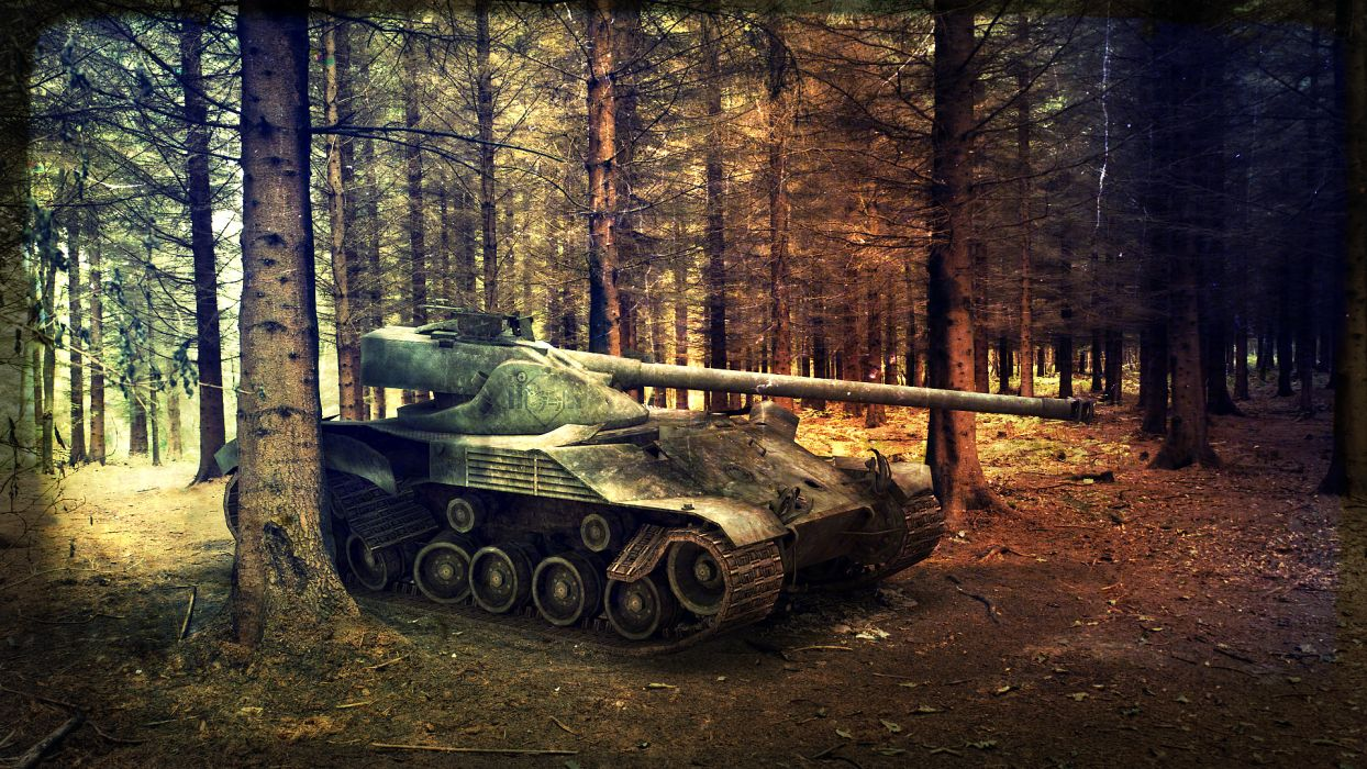 World of Tanks Tanks Forests Trees military weapons nature vehicles wallpaper