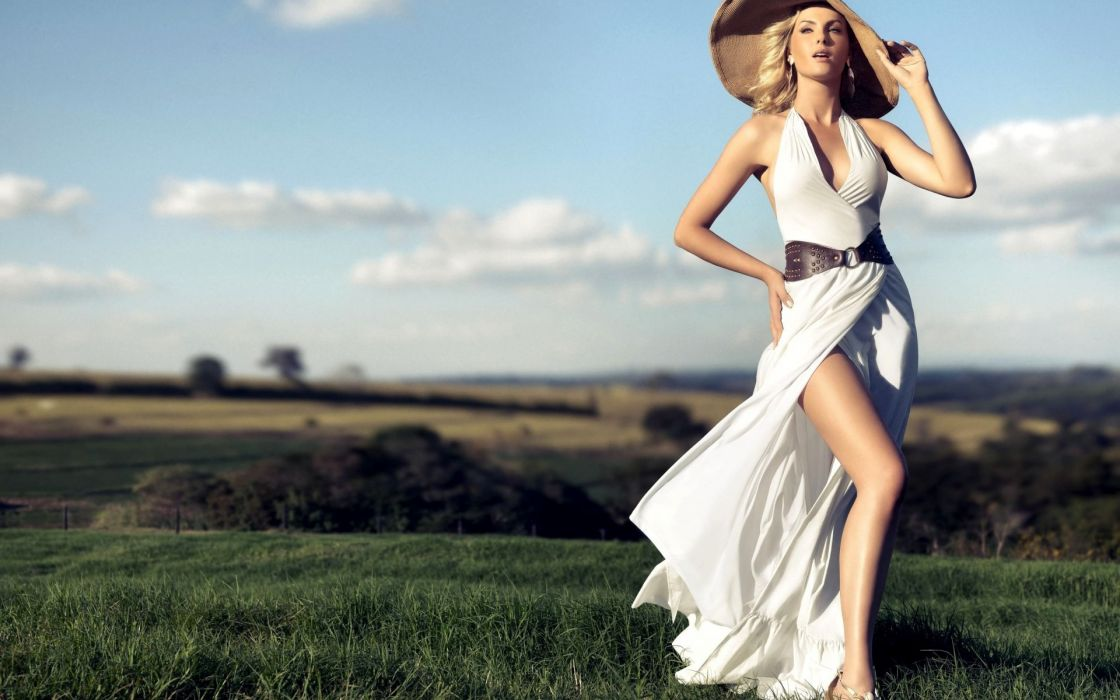 Ana Hickman women models fashion blondes sexy babes wallpaper