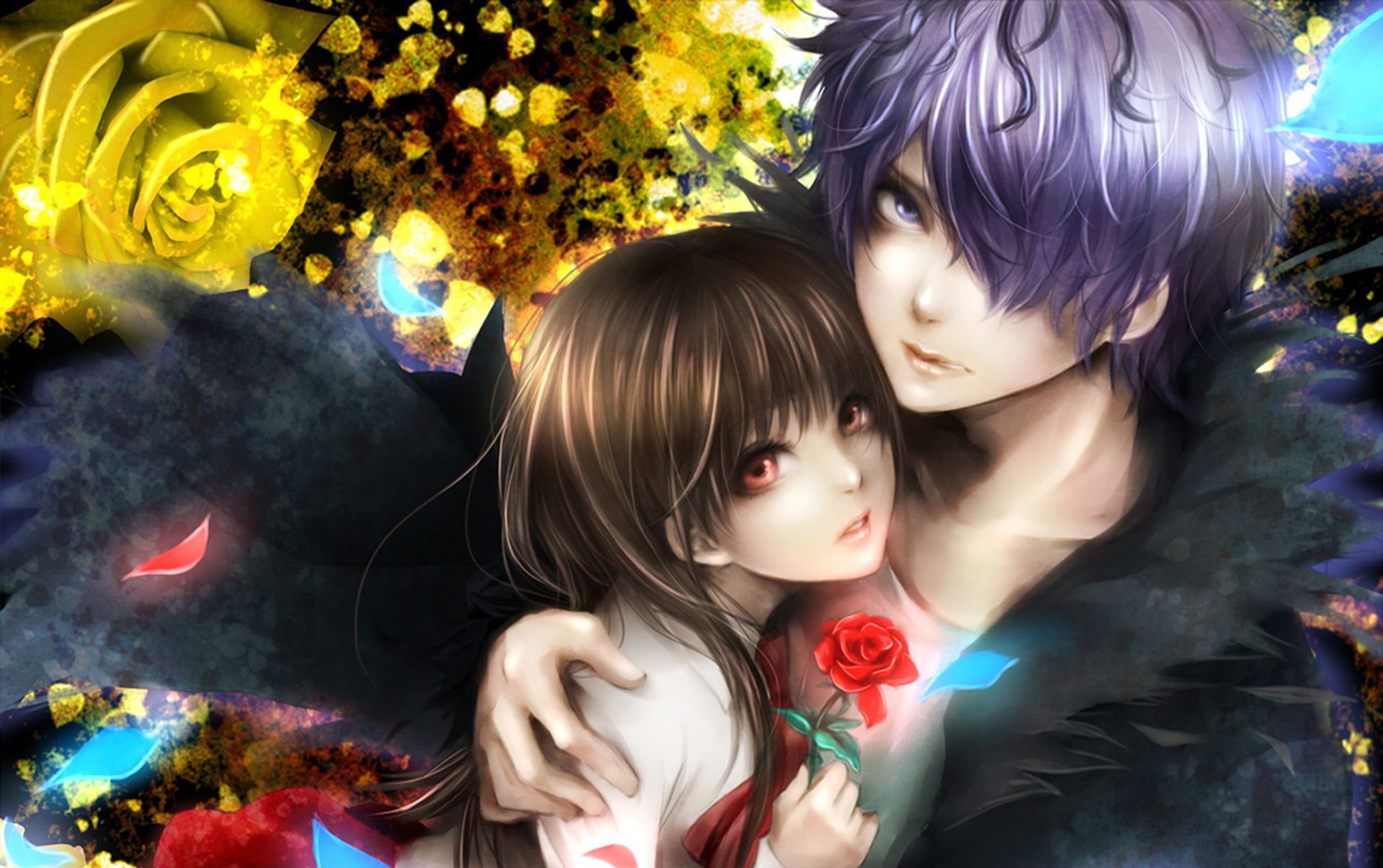 Girl And Boy Love Desktop Wallpaper : Original love romance boy girl art wallpaper 1920x1205 30914 WallpaperUP