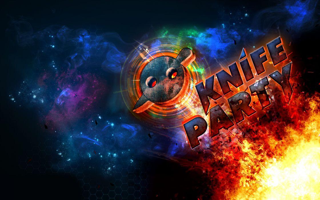 Knife Party sci fi space stars foire nebula wallpaper