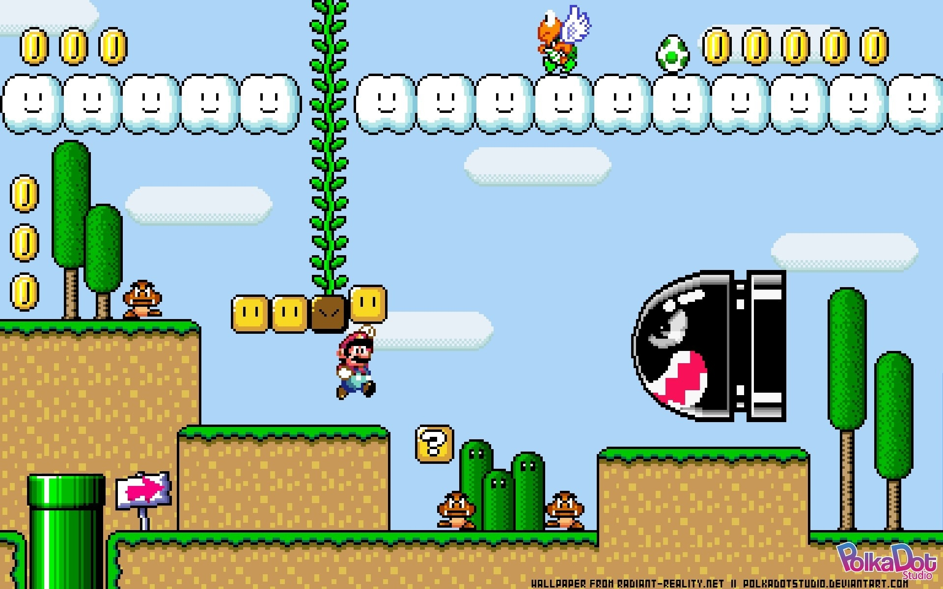 Super Mario World Retro Games Wallpaper