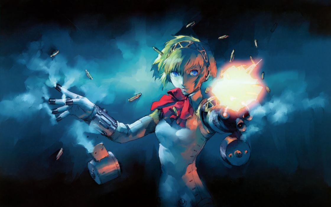 Persona 3 Anime Drawing games weapons sci fi futuristic girl art wallpaper