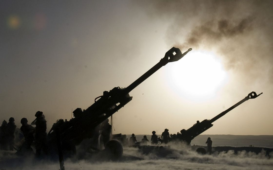 military artillery weapons warriors soldiers smoke muzzle cannon wallpaper