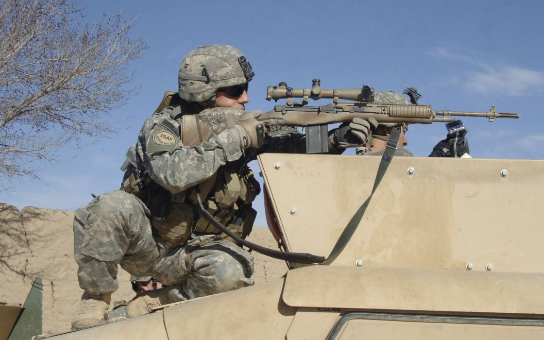 military warriors soldiers weapons guns rifles sniper camo people wallpaper