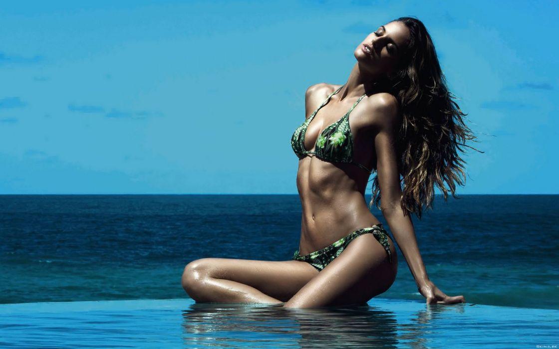 Izabel Goulart women model fashion brunettes sexy babes swimwear bikini wallpaper