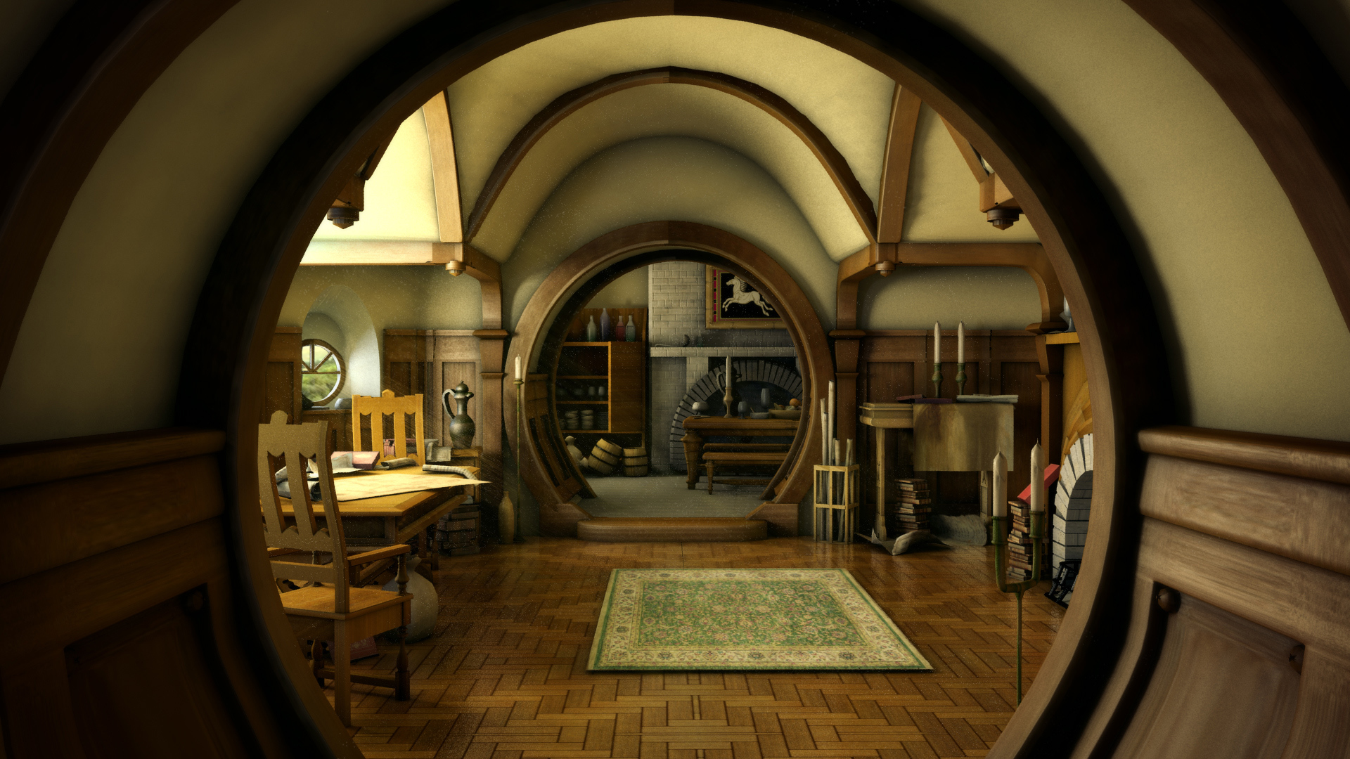 The hobbit lord rings lotr architecture house room for Lord of the rings bedroom ideas