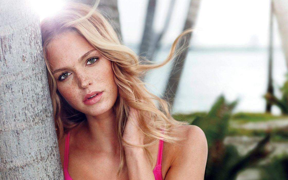 Erin Heatherton model fashion blonde sexy babe women face wallpaper