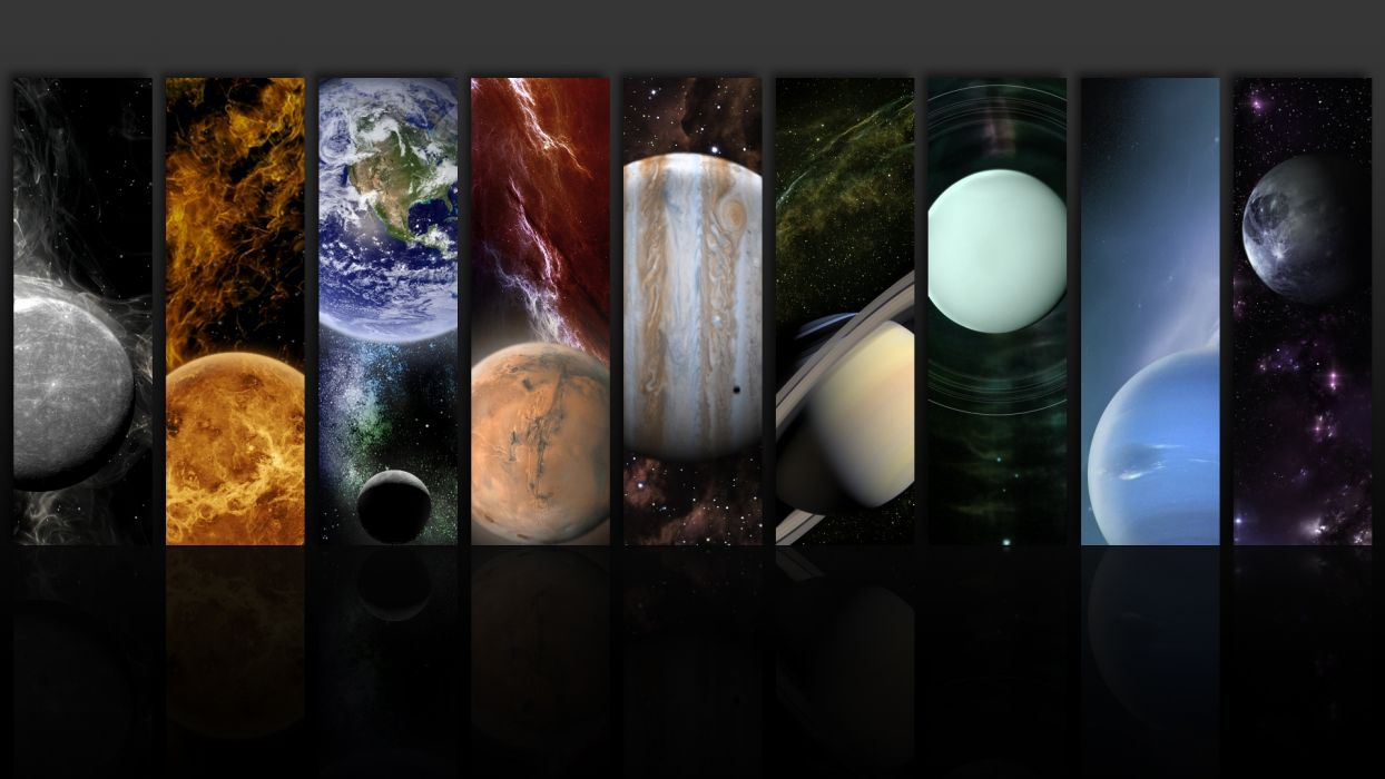 1920x1080 outer space planets collage tiles sci fi wallpaper