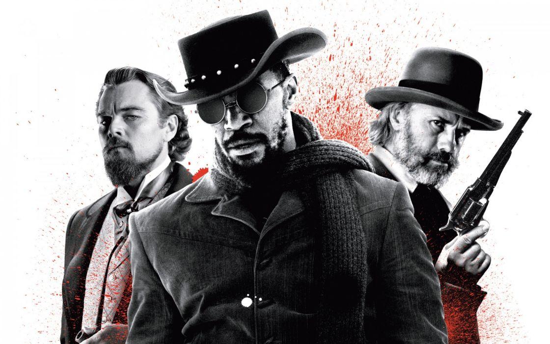 Jango released Django Unchained western Quentin Tarantino Jamie Foxx Christoph Waltz Leonardo DiCaprio weapons wallpaper