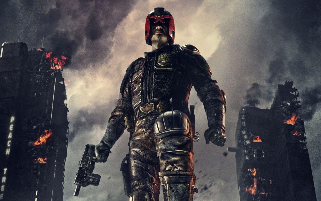 Judge Dredd games comics warriors sci fi futuristic wallpaper