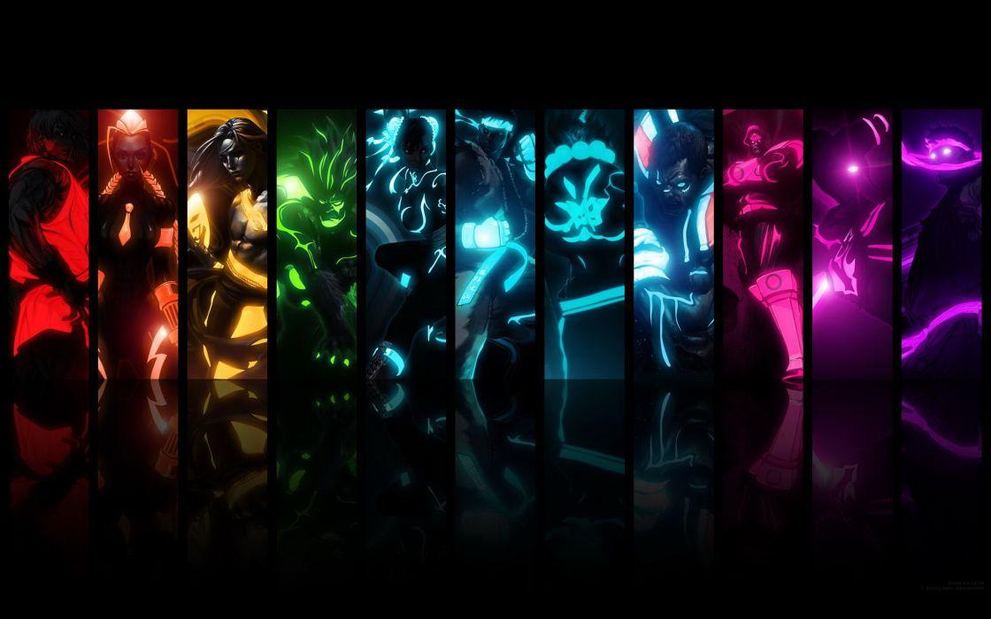 Street Fighter fantasy hero collage warriors wallpaper
