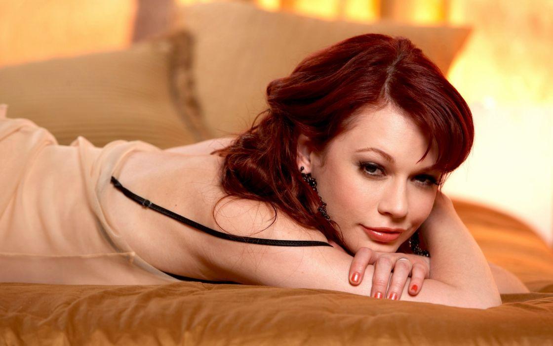 Justine Joli women model actress redhead sexy babes adult wallpaper