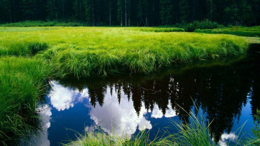 landscapes reflection wallpaper