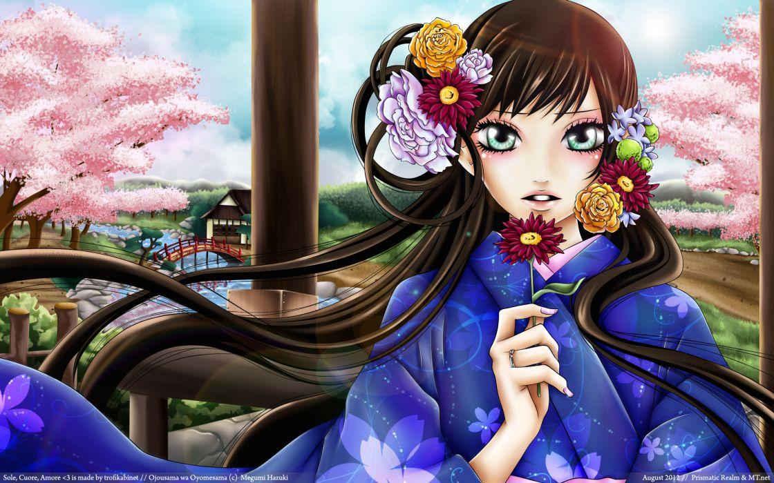 Ojousama wa Oyomesama Sole Cuore Amore Megumi Hazuki Towako Gokurakuin wallpaper