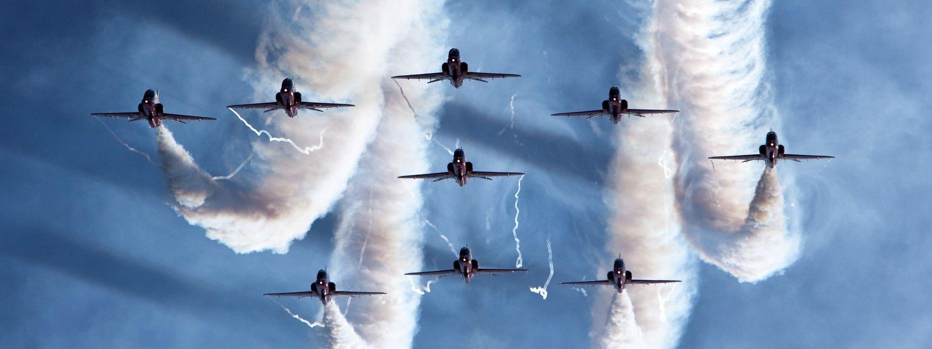 aircraft airplanes aerobatics smoke jets military fighters wallpaper